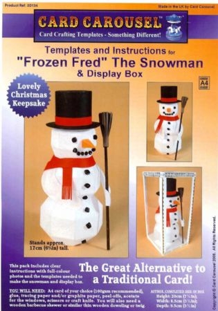 Frozen Fred The Snowman Gift Box Template From Card Carousel